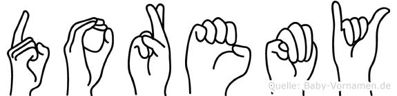 Doremy im Fingeralphabet der Deutschen Gebärdensprache