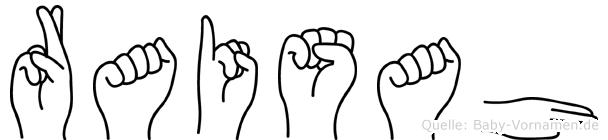 Raisah in Fingersprache für Gehörlose