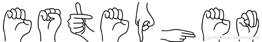 Estephen im Fingeralphabet der Deutschen Gebärdensprache