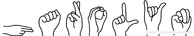 Harolyn im Fingeralphabet der Deutschen Gebärdensprache