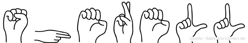 Sherell in Fingersprache für Gehörlose