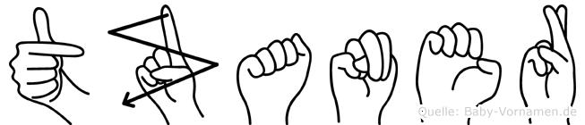 Tzaner im Fingeralphabet der Deutschen Gebärdensprache