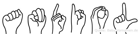 Andiol in Fingersprache für Gehörlose