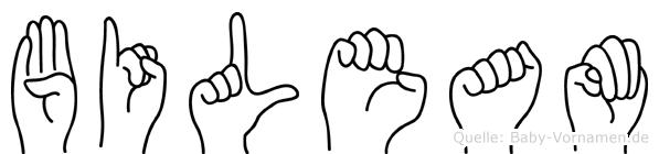 Bileam im Fingeralphabet der Deutschen Gebärdensprache