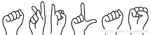 Akilas in Fingersprache für Gehörlose