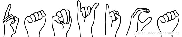 Danyica im Fingeralphabet der Deutschen Gebärdensprache