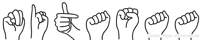 Nitasaa im Fingeralphabet der Deutschen Gebärdensprache