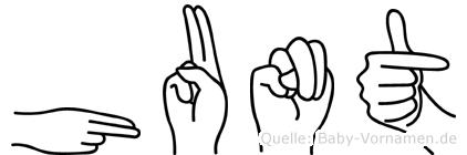 Hunt in Fingersprache für Gehörlose