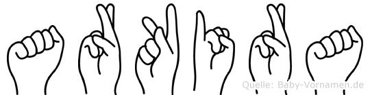 Arkira im Fingeralphabet der Deutschen Gebärdensprache