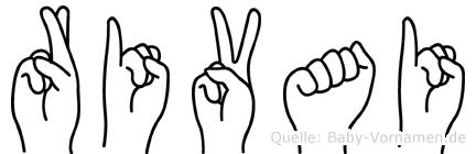Rivai im Fingeralphabet der Deutschen Gebärdensprache