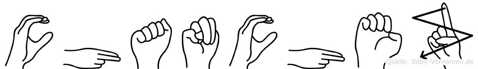 Chanchez in Fingersprache für Gehörlose