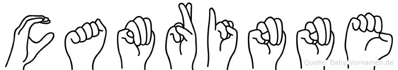 Camrinne im Fingeralphabet der Deutschen Gebärdensprache