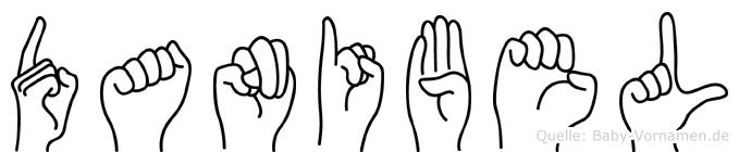 Danibel im Fingeralphabet der Deutschen Gebärdensprache