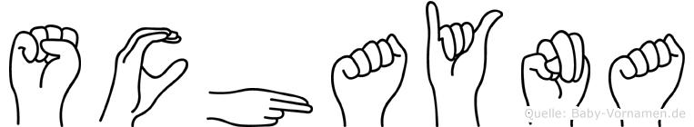 Schayna in Fingersprache für Gehörlose