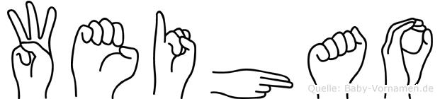 Weihao in Fingersprache für Gehörlose
