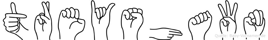 Treyshawn in Fingersprache für Gehörlose
