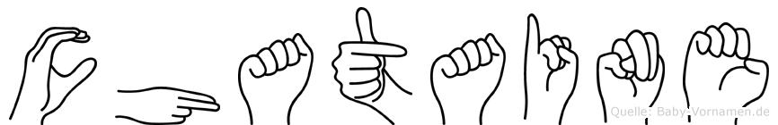 Chataine in Fingersprache für Gehörlose