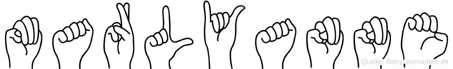 Marlyanne in Fingersprache für Gehörlose