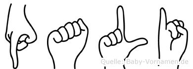 Pali in Fingersprache für Gehörlose