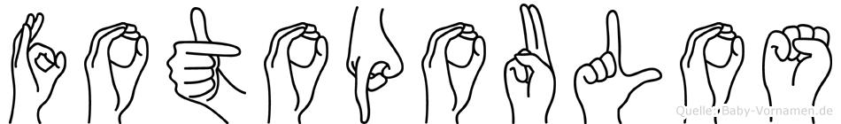 Fotopoulos in Fingersprache für Gehörlose