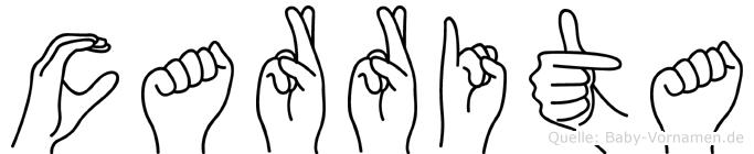 Carrita im Fingeralphabet der Deutschen Gebärdensprache