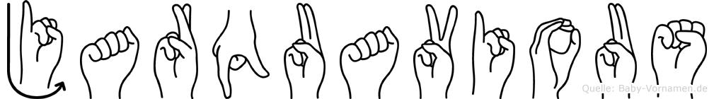 Jarquavious im Fingeralphabet der Deutschen Gebärdensprache
