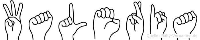 Waleria im Fingeralphabet der Deutschen Gebärdensprache