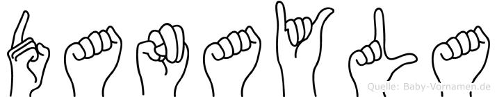 Danayla im Fingeralphabet der Deutschen Gebärdensprache