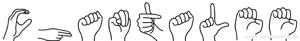 Chantalee in Fingersprache für Gehörlose