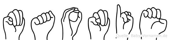 Maonie in Fingersprache f�r Geh�rlose