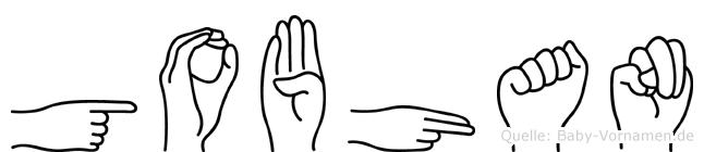 Gobhan im Fingeralphabet der Deutschen Gebärdensprache
