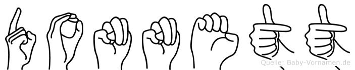 Donnett im Fingeralphabet der Deutschen Gebärdensprache