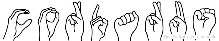 Cordarus in Fingersprache für Gehörlose