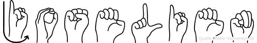 Joselien im Fingeralphabet der Deutschen Gebärdensprache