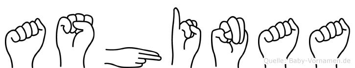 Ashinaa in Fingersprache für Gehörlose