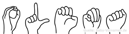 Olema in Fingersprache für Gehörlose