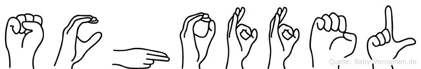 Schoffel im Fingeralphabet der Deutschen Gebärdensprache