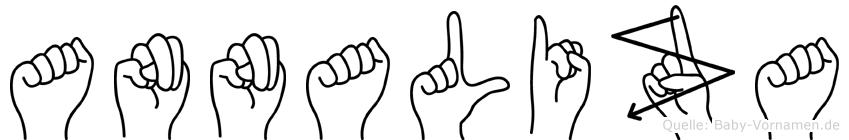 Annaliza im Fingeralphabet der Deutschen Gebärdensprache