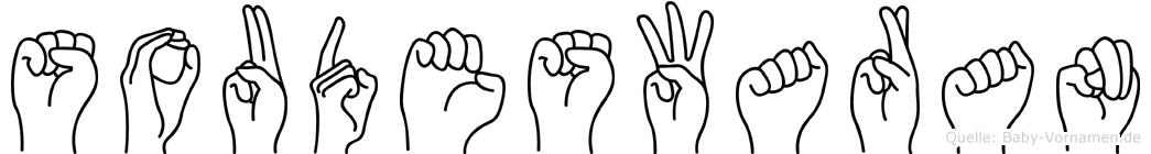 Soudeswaran im Fingeralphabet der Deutschen Gebärdensprache