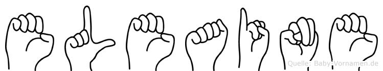 Eleaine im Fingeralphabet der Deutschen Gebärdensprache