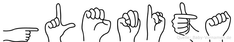 Glenita in Fingersprache für Gehörlose