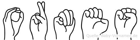 Ormes in Fingersprache für Gehörlose