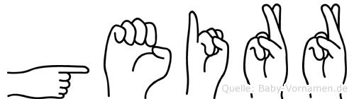 Geirr im Fingeralphabet der Deutschen Gebärdensprache