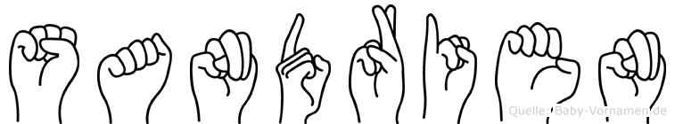 Sandrien im Fingeralphabet der Deutschen Gebärdensprache
