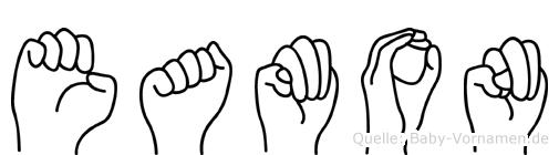 Eamon im Fingeralphabet der Deutschen Gebärdensprache