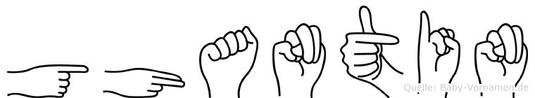Ghantin im Fingeralphabet der Deutschen Gebärdensprache