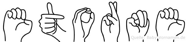 Etorne in Fingersprache für Gehörlose