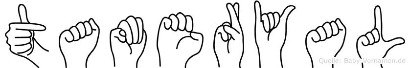 Tameryal in Fingersprache für Gehörlose