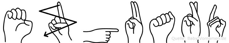 Ezguard in Fingersprache für Gehörlose