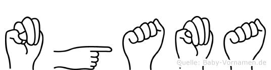 Ngama in Fingersprache für Gehörlose